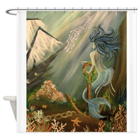 Mysterious Fathoms Shower Curtain