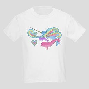 Narwhal Family Kids Light T-Shirt