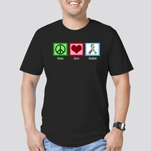 Peace Love Autism Men's Fitted T-Shirt (dark)
