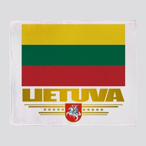 """Lithuania Pride"" Throw Blanket"