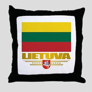 """Lithuania Pride"" Throw Pillow"