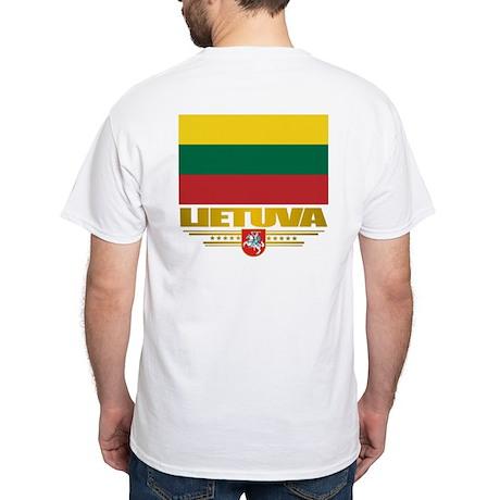 """Lithuania Pride"" White T-Shirt"