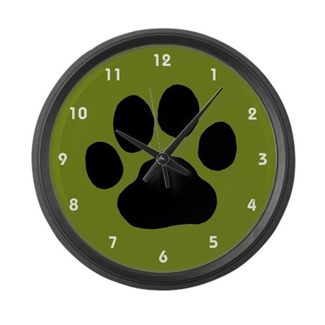 Paw Print Large Wall Clock