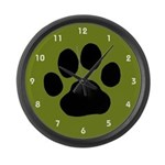 Paw Print Large Wall Clock