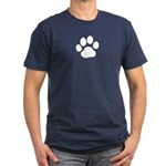 Paw Print Men's Fitted T-Shirt (dark)