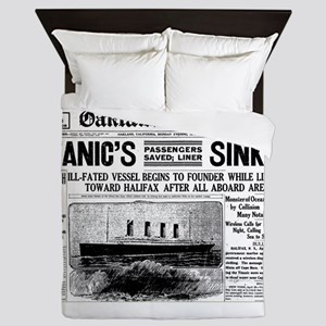 Passengers Saved, Liner Sinking Queen Duvet