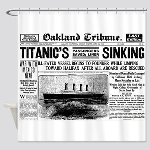 Passengers Saved, Liner Sinking Shower Curtain