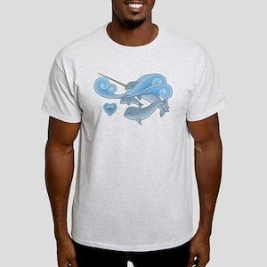 Blue Narwhal Family Light T-Shirt