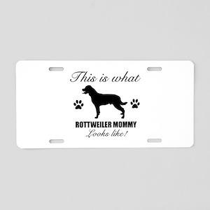 Rottweiler Mommy Aluminum License Plate