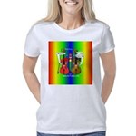 SquarePinkBlueRainbow Women's Classic T-Shirt