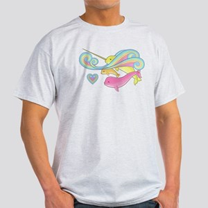 Groovy Narwhal Family Light T-Shirt