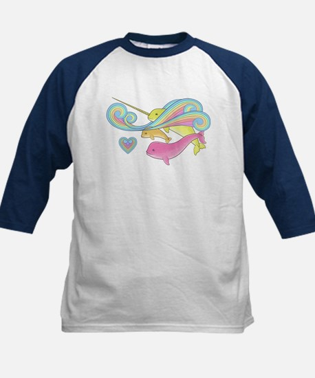 Groovy Narwhal Family Kids Baseball Jersey