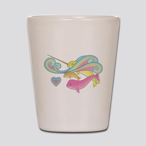 Groovy Narwhal Family Shot Glass
