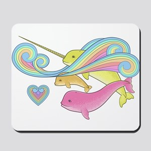 Groovy Narwhal Family Mousepad