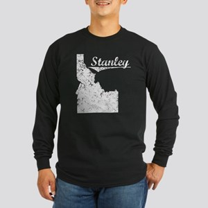 Stanley, Idaho. Vintage Long Sleeve Dark T-Shirt