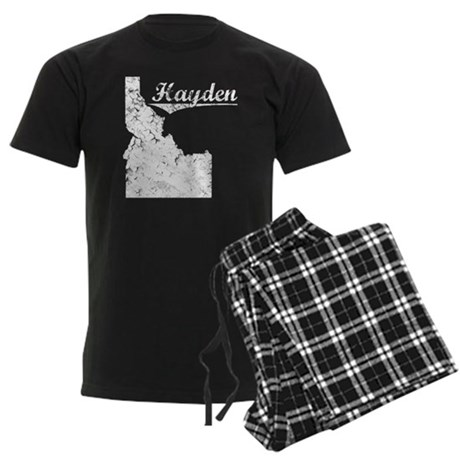 Hayden, Idaho. Vintage Men's Dark Pajamas