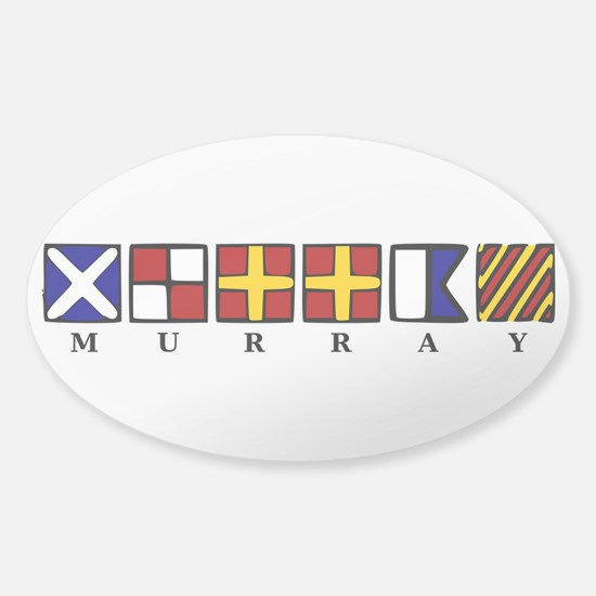 Nautical Murray Sticker (Oval)