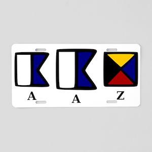 aAz Aluminum License Plate