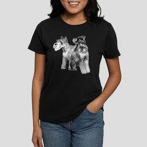 two schnauzers Women's Dark T-Shirt