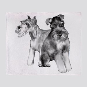 two schnauzers Throw Blanket