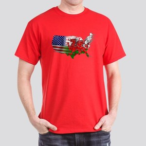 Welsh Placenames USA Dark T-Shirt