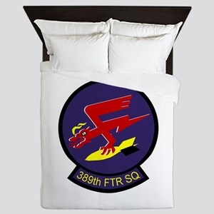 389th Fighter Squadron Queen Duvet