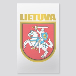 """Lithuania COA"" Sticker (Rectangle)"