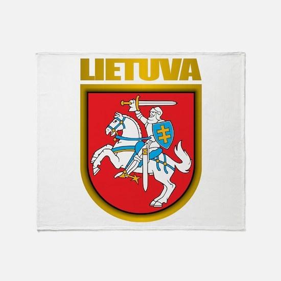 """Lithuania COA"" Throw Blanket"
