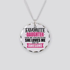 Favorite Daughter Necklace Circle Charm