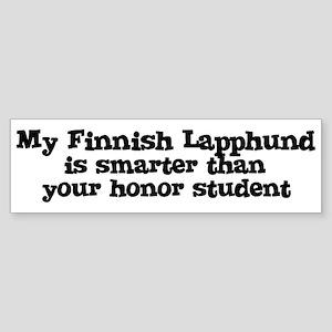 Honor Student: My Finnish Lap Bumper Sticker