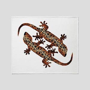 two geckos Throw Blanket