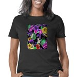 Colorful Flower Design Pri Women's Classic T-Shirt