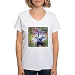 Good Morning World Women's V-Neck T-Shirt