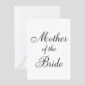 Mother of the Bride Black Scr Greeting Card