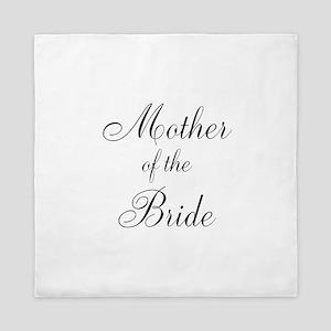 Mother of the Bride Black Scr Queen Duvet