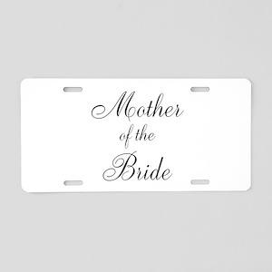 Mother of the Bride Black Scr Aluminum License Pla