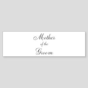 Mother of the Groom Black Sci Sticker (Bumper)