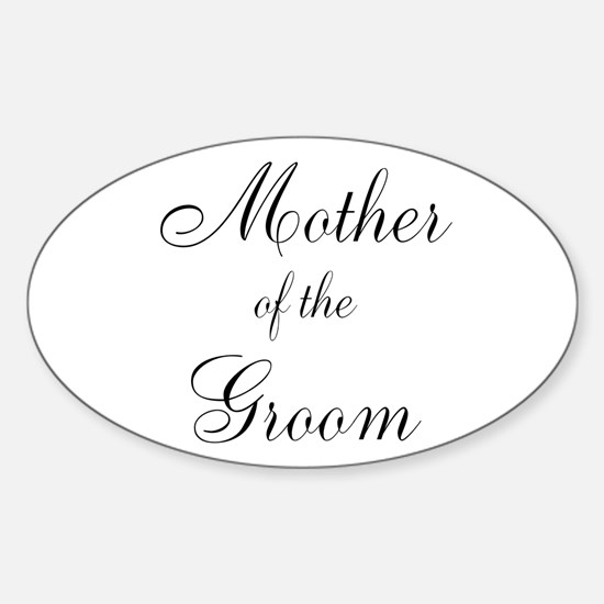 Mother of the Groom Black Sci Sticker (Oval)