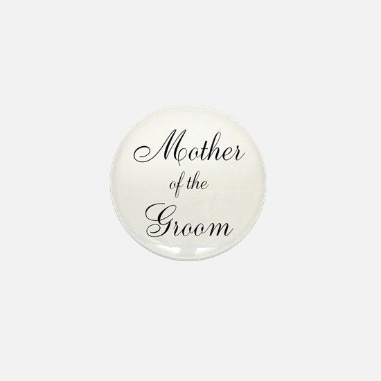 Mother of the Groom Black Sci Mini Button