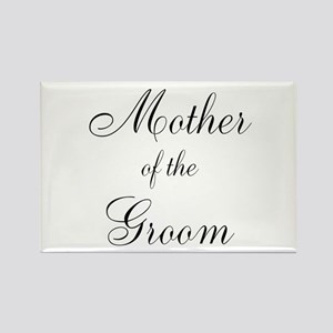 Mother of the Groom Black Sci Rectangle Magnet