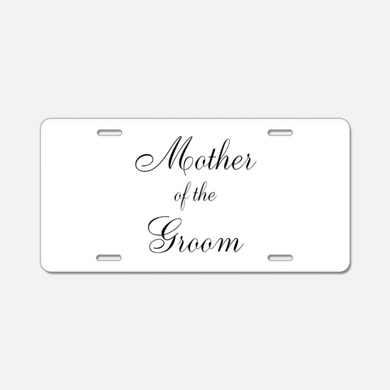 Mother of the Groom Black Sci Aluminum License Pla