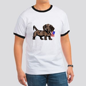 4th of July Dachshund Ringer T