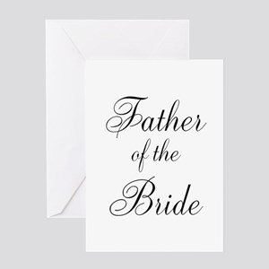 Father Of The Bride Black Scr Greeting Card