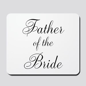 Father of the Bride Black Scr Mousepad