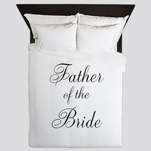 Father of the Bride Black Scr Queen Duvet