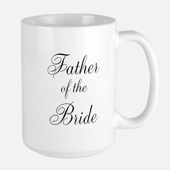 Father of the Bride Black Scr Large Mug