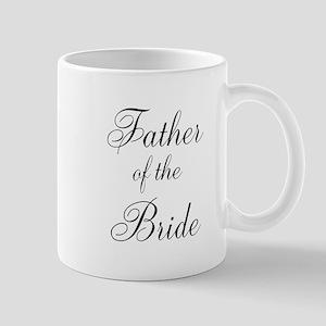 Father of the Bride Black Scr Mug