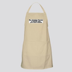 Honor Student: My Airedale Te BBQ Apron