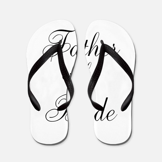 Father of the Bride Black Scr Flip Flops