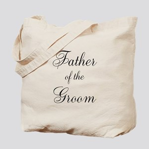 Father of the Groom Black Scr Tote Bag